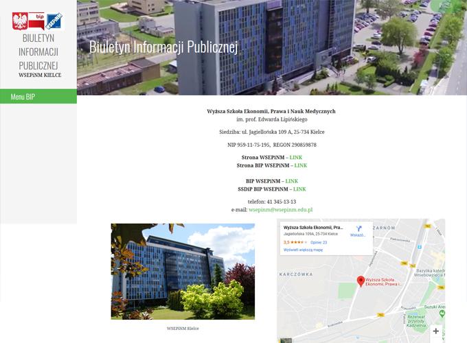 strony www kielce - apsolution.pl - bip wseip.edu.pl