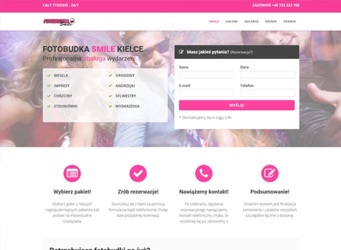 strony www kielce - apsolution.pl - fotobudka smile