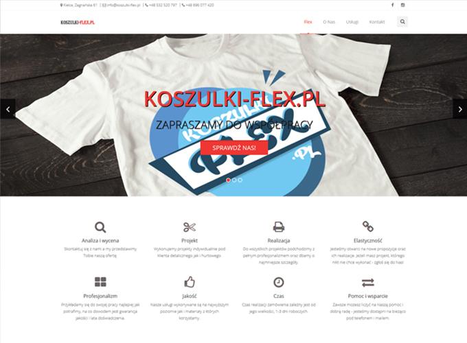 strony www kielce - apsolution.pl - koszulki flex