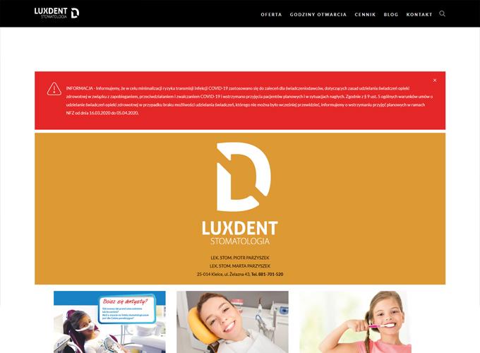 strony www kielce - apsolution.pl - LuxDent Kielce